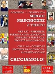 Festival Economia: Marchionne va cacciato @ Sociologia Trento   Trento   Trentino-Alto Adige   Italia