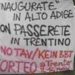 Manifestazione NO TAV alla stazione di Trento