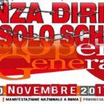 Scuola: Verso lo sciopero generale del 10 novembre