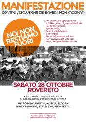 Manifestazione Antivaccini - Noi non restiamo fuori @ ROVERETO | Rovereto | Trentino-Alto Adige | Italia